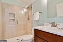 large shower in the top floor bathroom - 3401 N KENSINGTON ST, ARLINGTON