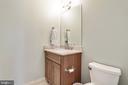 convenient vanity in main level powder room - 3401 N KENSINGTON ST, ARLINGTON