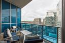 Terrace off Master Suite and Dining room - 1881 N NASH ST #1803, ARLINGTON