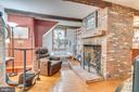 Relaxing area, Fireplace, main Level by kitchen - 300 W GERMAN ST, SHEPHERDSTOWN