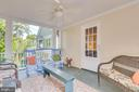 upper level Covered Balcony w doors to Library - 300 W GERMAN ST, SHEPHERDSTOWN