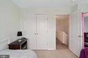 Ceiling fan and closet - 13011 PARK CRESCENT CIR, HERNDON