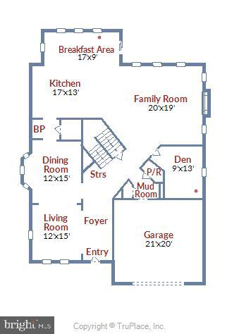 Main level floor plan - 2905 RANDOM RD, FALLS CHURCH