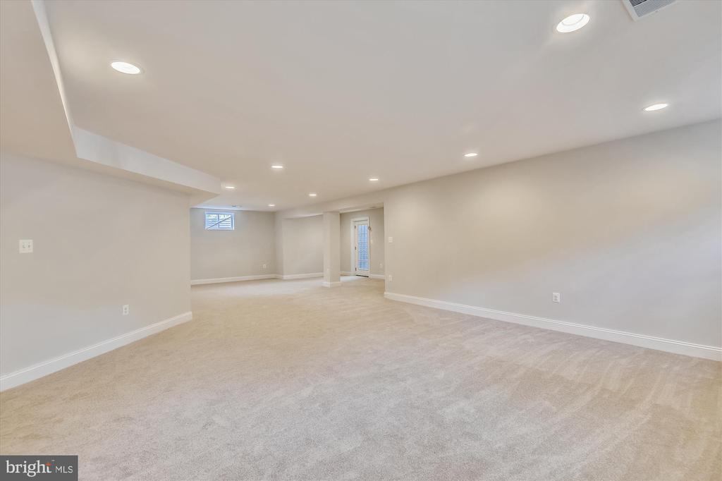 Huge rec room with carpet, recessed lighting - 2905 RANDOM RD, FALLS CHURCH