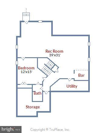 Lower level floor plan - 2905 RANDOM RD, FALLS CHURCH