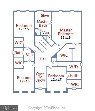 Upper level floor plan - 2905 RANDOM RD, FALLS CHURCH