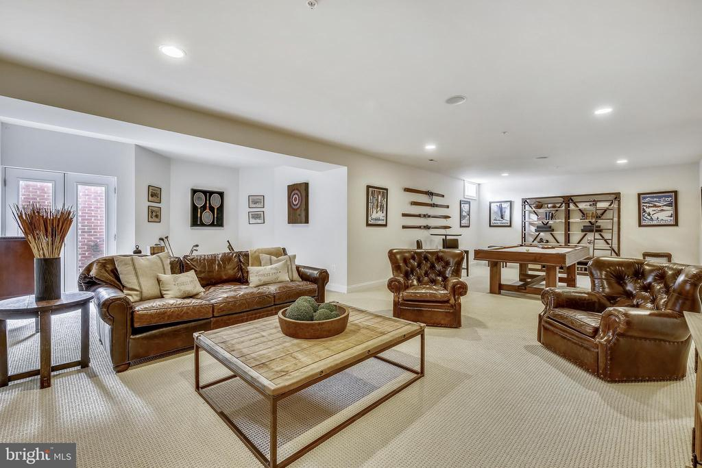 Huge rec room with bump out and walk-up to outside - 8 BULLARD CIR, ROCKVILLE
