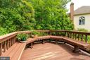 Deck with Built in Bench - 9413 ENGLEFIELD CT, FAIRFAX STATION
