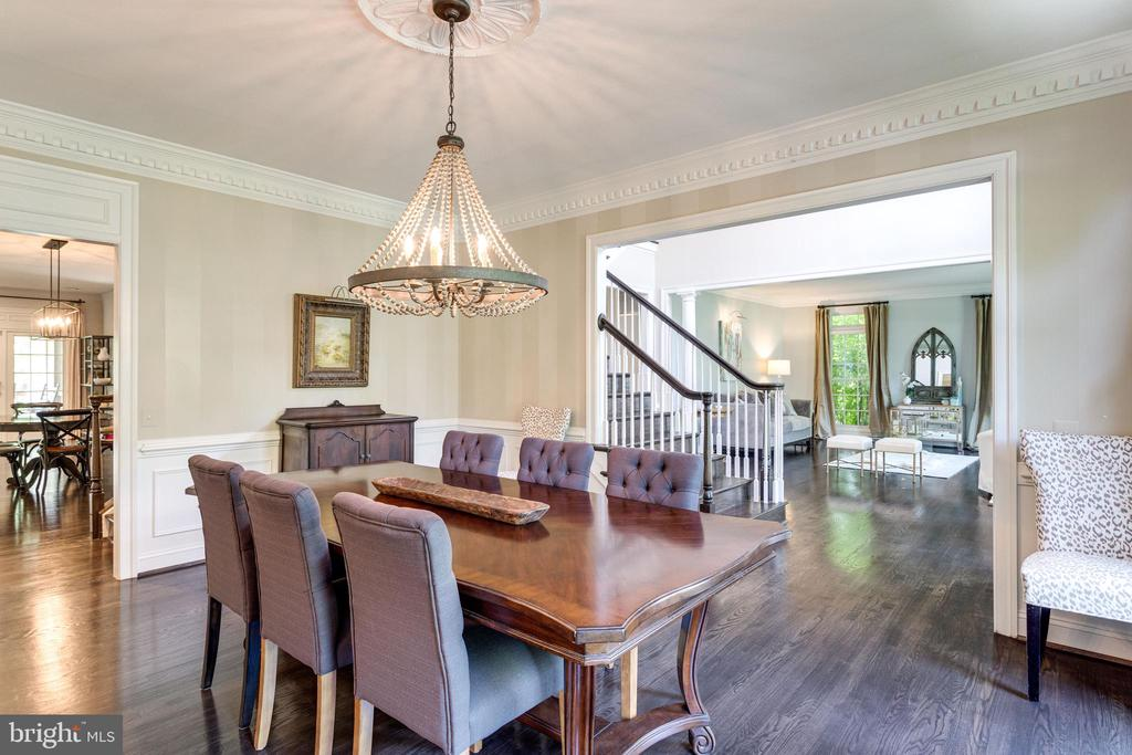 Formal dining room with stylish new chandelier. - 2796 MARSHALL LAKE DR, OAKTON