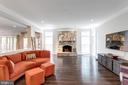 Great room off kitchen with gas fireplace. - 2796 MARSHALL LAKE DR, OAKTON