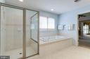 Large shower with designer tile & jetted tub. - 2796 MARSHALL LAKE DR, OAKTON