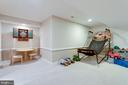Game room in lower level. - 2796 MARSHALL LAKE DR, OAKTON