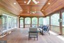 Rear screened porch. - 2796 MARSHALL LAKE DR, OAKTON