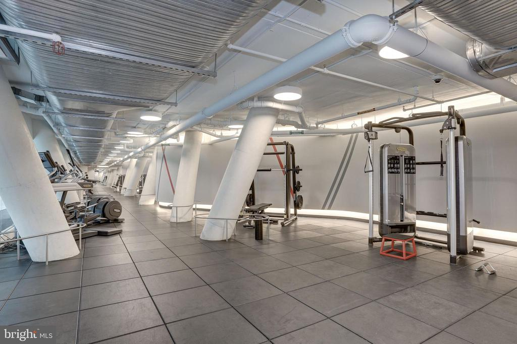 Fitness room features Technogym equipment - 1111 24TH ST NW #42, WASHINGTON