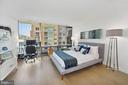 Second bedroom with floor-to-ceiling windows - 1111 24TH ST NW #42, WASHINGTON