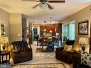 View from Fireplace to kitchen - 3545 GROUSE POINTE DR, STAFFORD