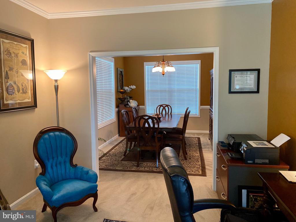 View from Study into Formal Dinning room - 3545 GROUSE POINTE DR, STAFFORD