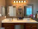 Double sinks with plenty of storage - 3545 GROUSE POINTE DR, STAFFORD
