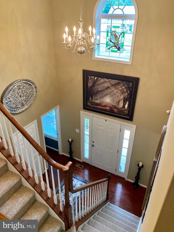 Foyer view from upstairs - 3545 GROUSE POINTE DR, STAFFORD