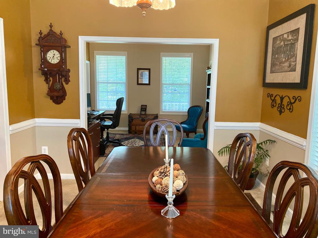 View into Study from Dinning room - 3545 GROUSE POINTE DR, STAFFORD