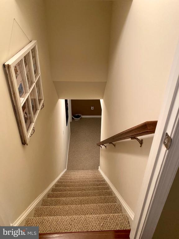 Basement stairs - 3545 GROUSE POINTE DR, STAFFORD