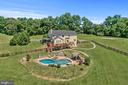 Back of the house and pool area - 20634 ST LOUIS RD, PURCELLVILLE