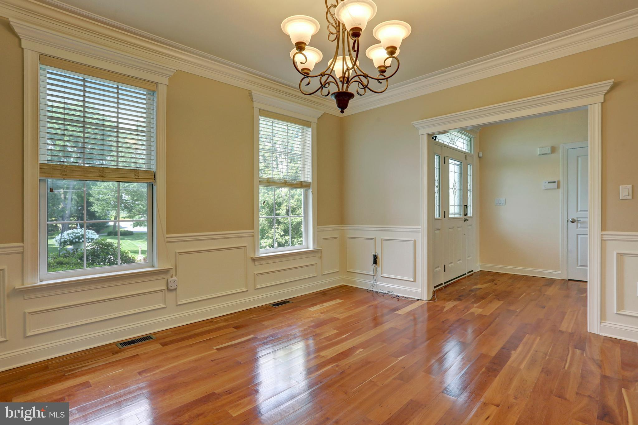 Cherry Wood Floors in the Formal Dining Room