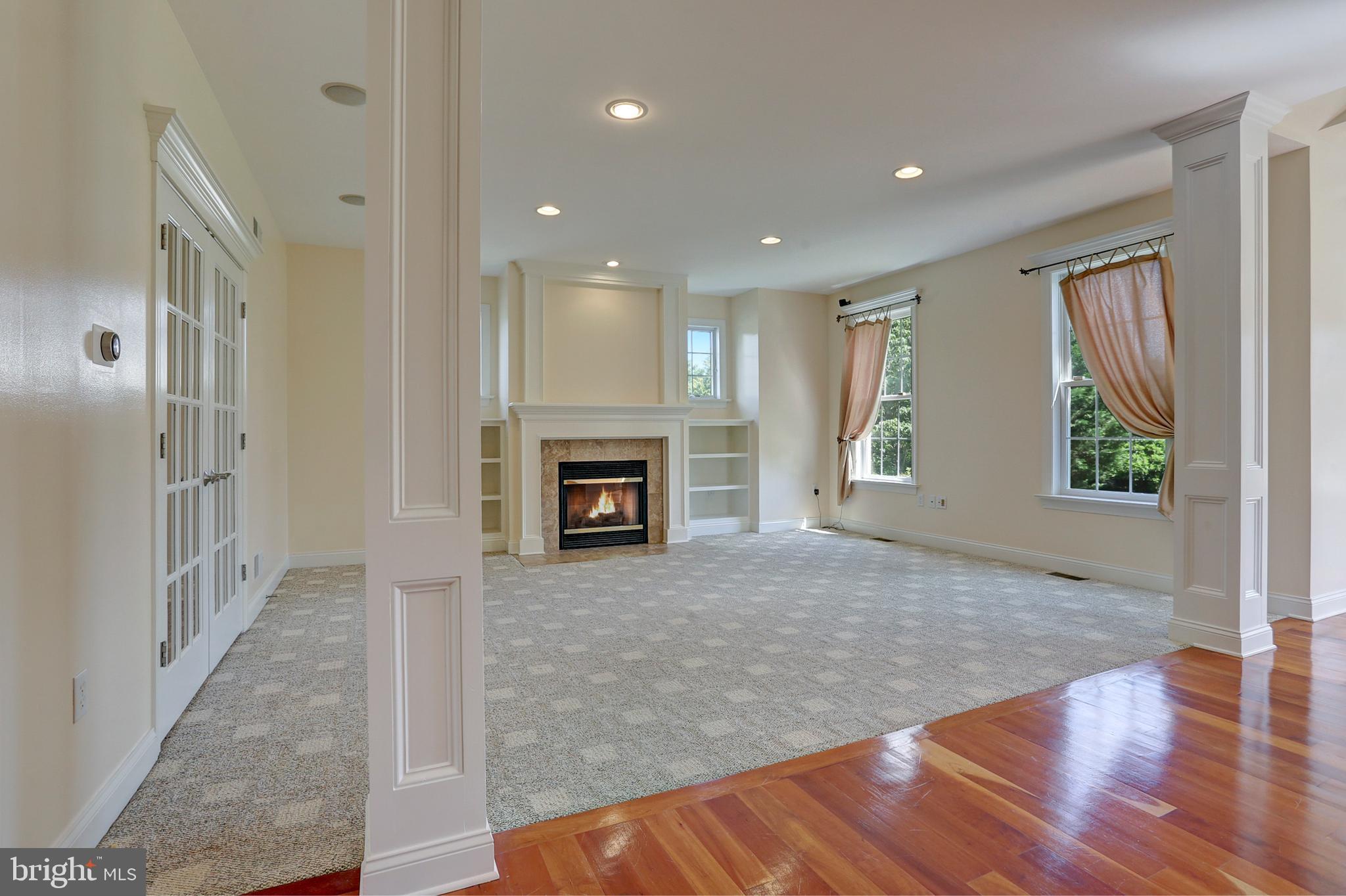 High Ceilings and Beautiful Flooring