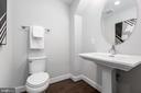 Lower level half bath - 1526 16TH CT N, ARLINGTON