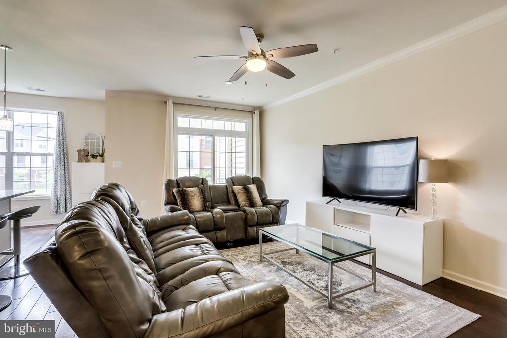 Great Room with Ceiling Fan - 23297 SOUTHDOWN MANOR TER #116, ASHBURN