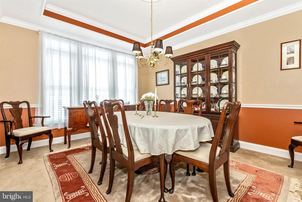 Formal dining room - accent moldings. - 2689 MONOCACY FORD RD, FREDERICK