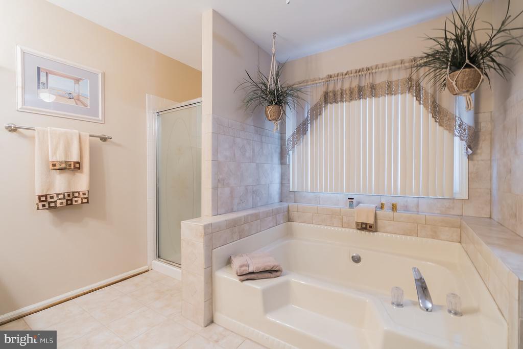 Master bath with soaking tub - 22 BALLANTRAE CT, STAFFORD