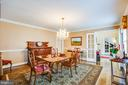 dining room - 8105 WATERFORD DR, SPOTSYLVANIA