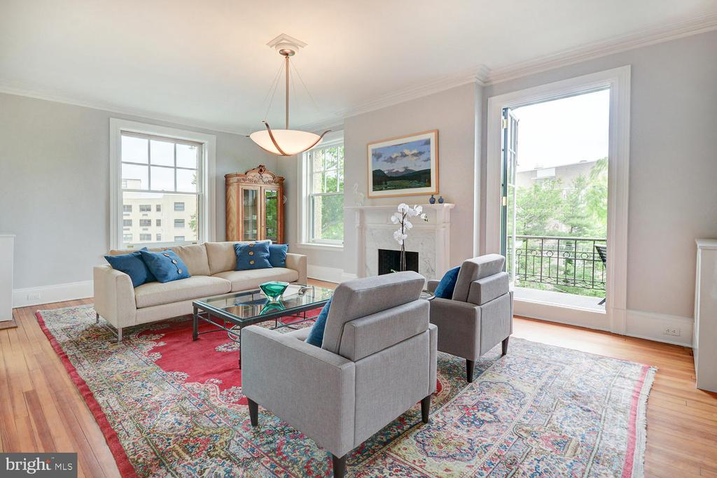 French doors to private North balcony - 2853 ONTARIO RD NW #205, WASHINGTON
