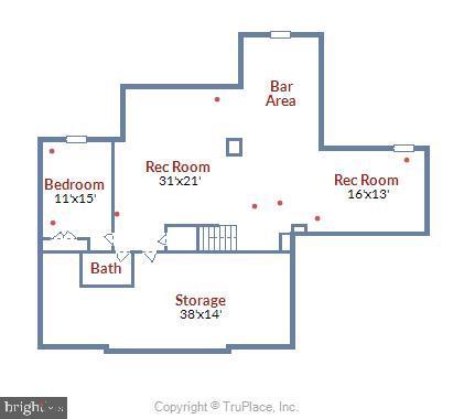 Lower Level Room Descriptions - 18503 PELICANS NEST WAY, LEESBURG