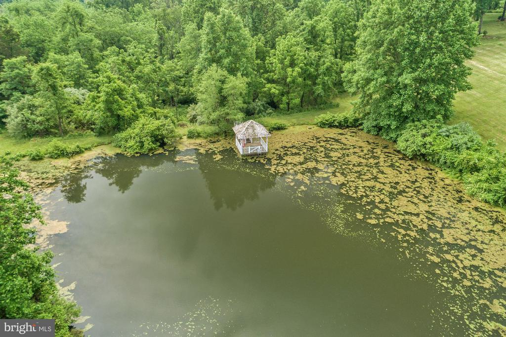 Pond with pavillion - 16832 OLD WATERFORD RD, PAEONIAN SPRINGS