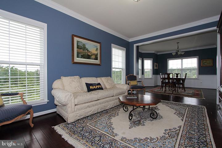 Living room overlooking dining room - 20999 HONEYCREEPER PL, LEESBURG