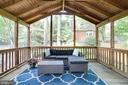 Screened porch off dining room to patio, yard - 3831 N ABINGDON ST, ARLINGTON