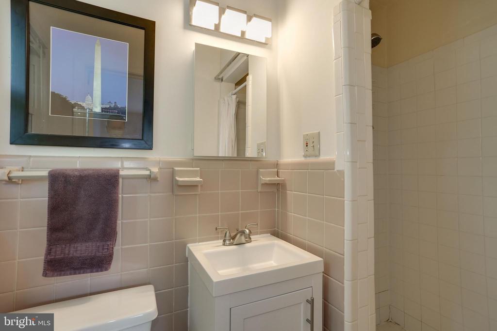 shower in master bathroom - 3831 N ABINGDON ST, ARLINGTON