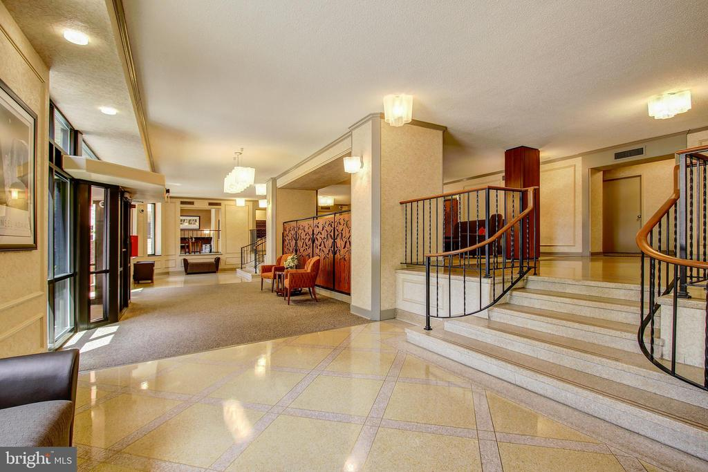 Welcoming and Upscale Building Lobby! - 5902 MOUNT EAGLE DR #1406, ALEXANDRIA