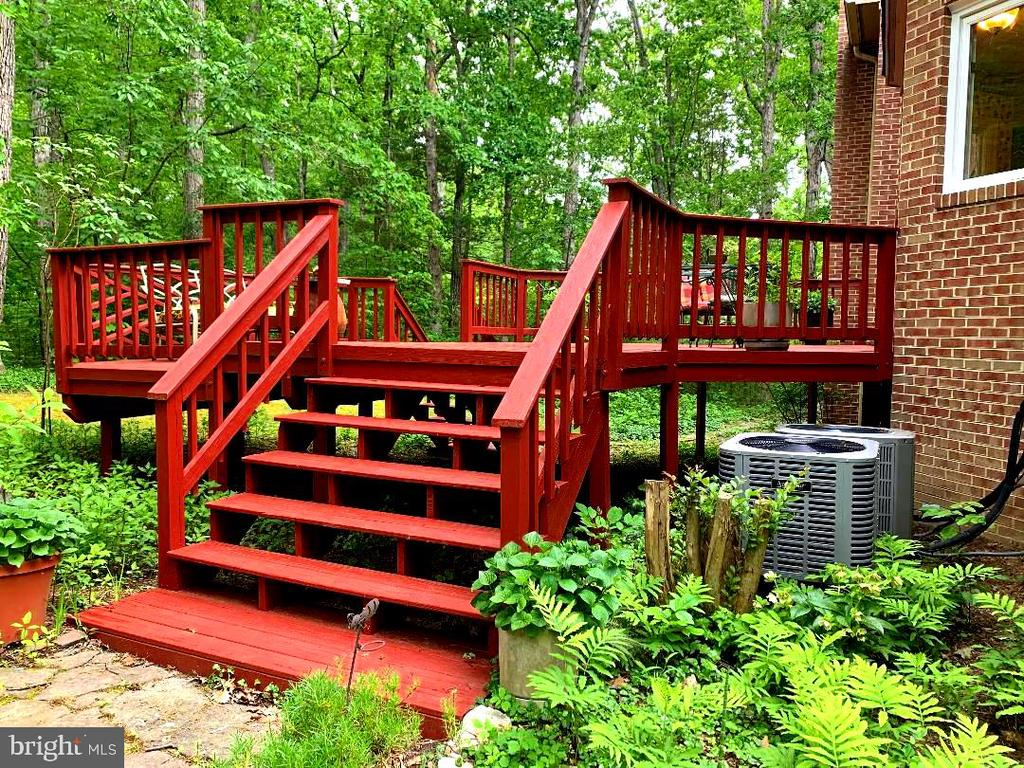 Stairs to Back Deck (2 Tier Deck)! - 12210 GLADE DR, FREDERICKSBURG