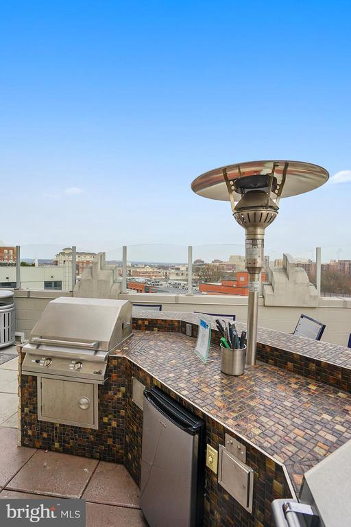 Roof top patio with grills - 1021 N GARFIELD ST #1030, ARLINGTON
