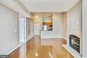 View to kitchen and entry foyer - 1021 N GARFIELD ST #1030, ARLINGTON