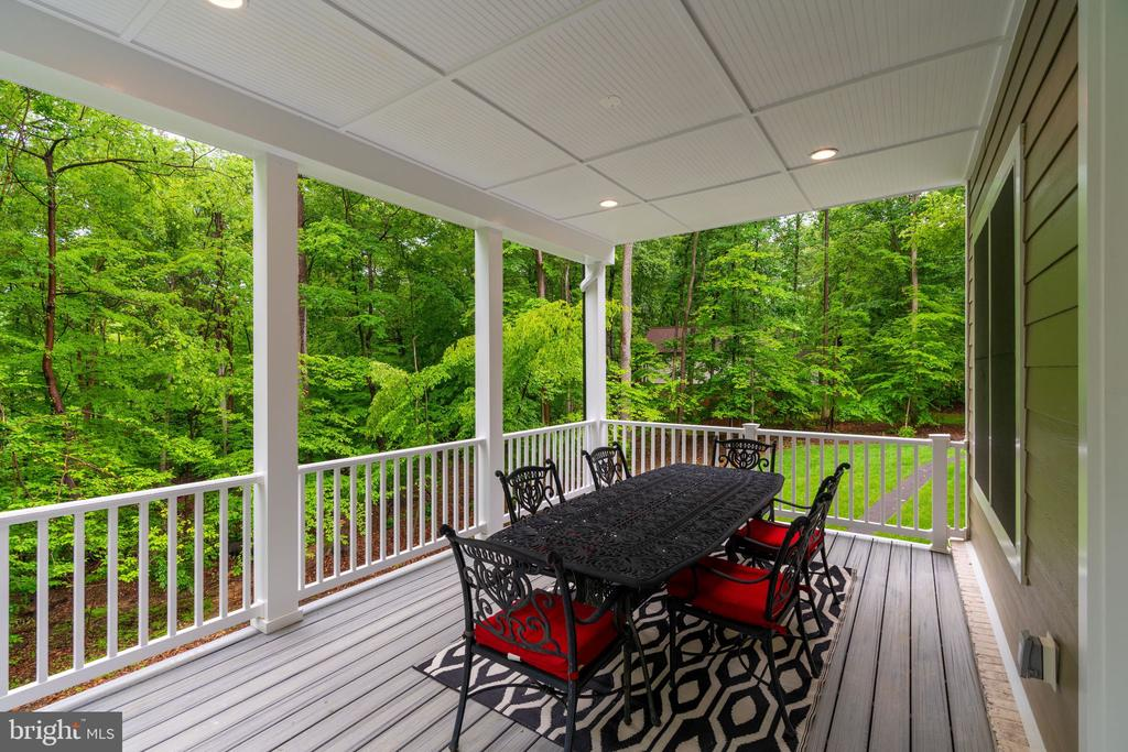 Covered deck, Surrounded by Trees - 8506 SHADEWAY PL, SPRINGFIELD