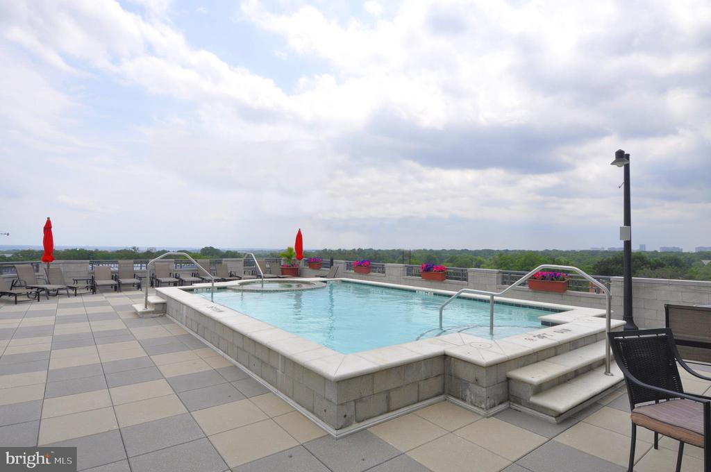 Rooftop pool - 1021 N GARFIELD ST #1030, ARLINGTON