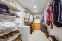 Master closet with laundry chute - 12103 SAWHILL BLVD, SPOTSYLVANIA