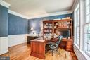 Home office/study with mouldings - 12103 SAWHILL BLVD, SPOTSYLVANIA