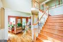Extra wide grand staircase - 12103 SAWHILL BLVD, SPOTSYLVANIA