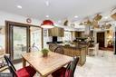 Kitchen - Breakfast area - 17007 BARN RIDGE DR, SILVER SPRING