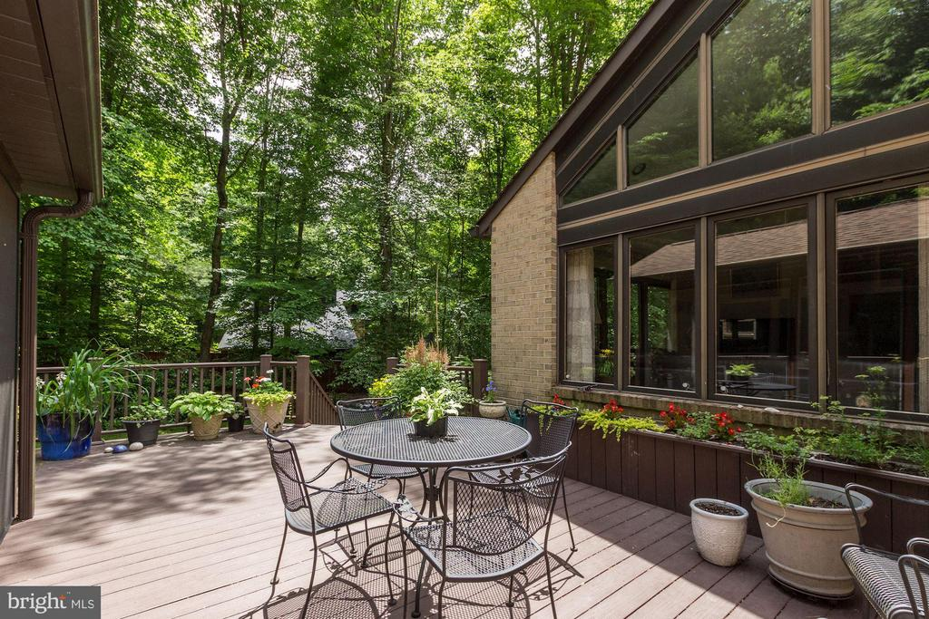 Exterior - Deck beyond Screened Porch by Family Rm - 17007 BARN RIDGE DR, SILVER SPRING